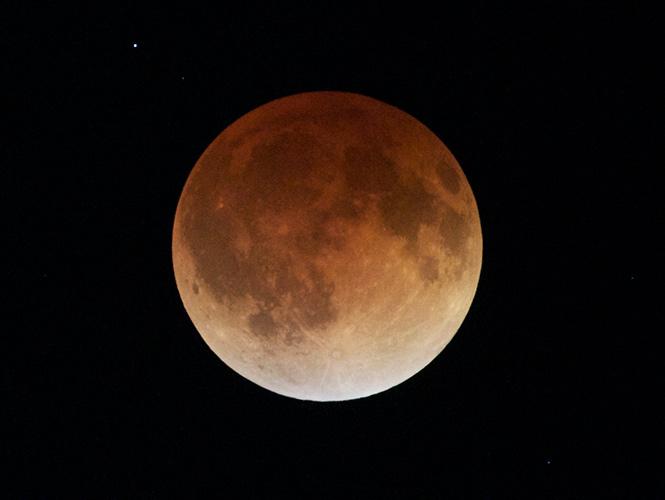 Así se vio el eclipse lunar enMéxico