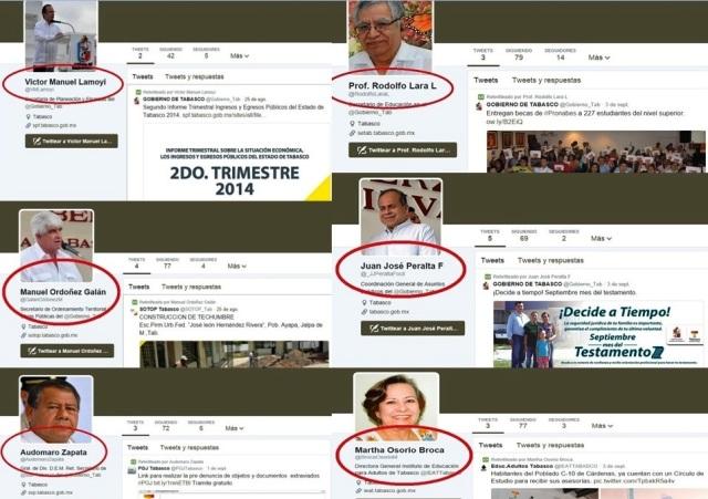 Tienen ya cuentas en twitter altos Funcionarios deNúñez