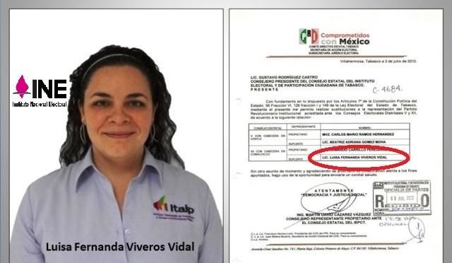 Impugnaran Partidos a Consejera Presidente delINE-Tabasco
