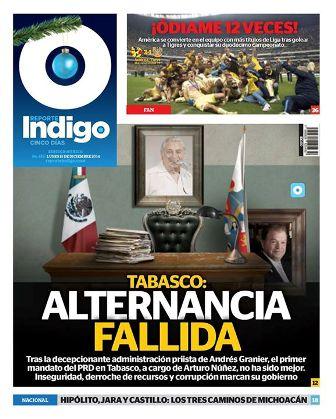Dedica @Reporte_Indigo su edición de esta semana a la corrupción en#Tabasco