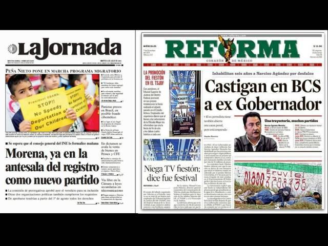 """Se queja @lopezobrador_ de Censura en los periódicos """"Reforma"""" y """"LaJornada"""""""