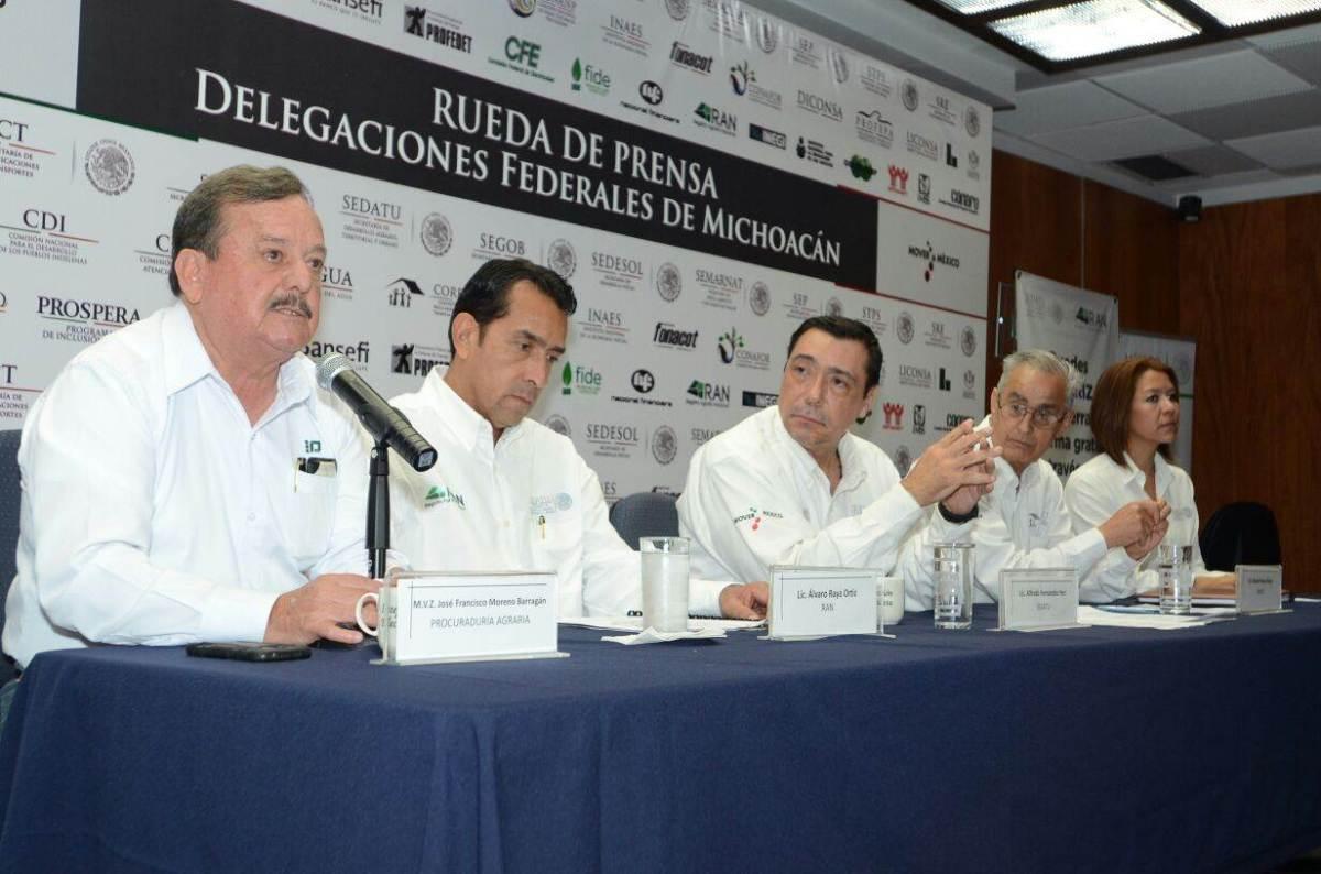 Autoridades atenderán conflictos agrarios en municipios de Michoacán#Michoacan