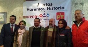 Recibe INE solicitud de registro del convenio de coalición parcial de Morena, PT y PES, para comicios de 2018