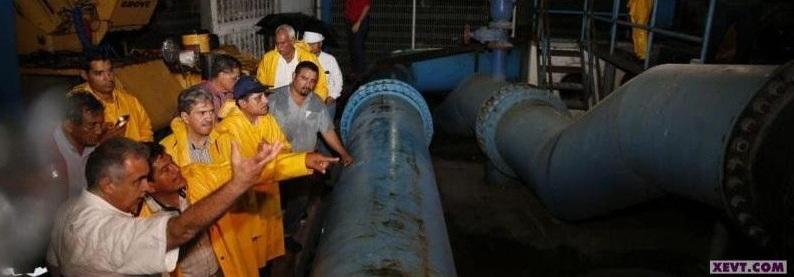 Supervisan autoridades los #Cárcamos del #MunicipioDeCentro ante la presencia de lluvias muyfuertes